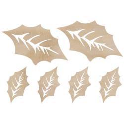 Kaisercraft Wood Flourish - Holly Leaves