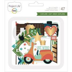 American Crafts Project Life Explore - Ephemera Die-cut shapes