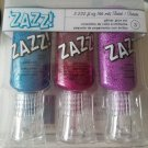 ZAZZ! Glitter Glue 3 pack - peacock, Geranium and Orchid