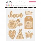 Crate Paper - cute girl Collection - layered wood veneer