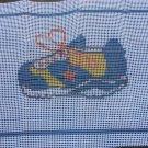 Sneaker, Shoe-Latch Hook-Quickpoint VINTAGE
