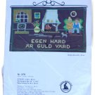 Marks Sampler Eben Hard ar Guld Vard Wall Hanging Needlework Kit 3711