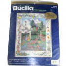 Bucilla 42446 Counted Cross Stitch Picture Kit Wrought Iron Gate