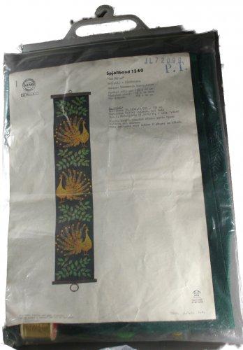 Nordiska Industri AB (NIAB) Margareta Lundquister Peacock Bellpull Embroidery Kit 1340