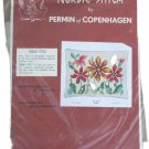 Permin of Copenhagen Fall Nordic Stitch Pillow Needlepoint Kit 83-0417