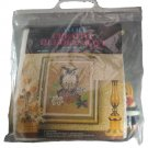 Avon Creative Needlecrafts Owl Picture Needlepoint Vintage 14 x 18