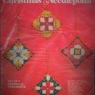 Vintage Bucilla Christmas Needlepoint - Bargello Ornaments - Set (4)