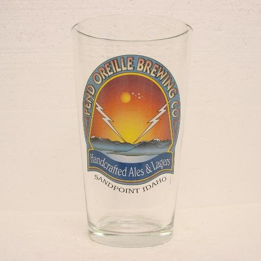 PEND OREILLE BREWING CO. Pint Glass - Sandpoint, ID - very clean