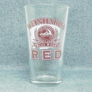 WEINHARD'S BLUE BOAR RED Pint Glass - 1995 - Year of the Boar
