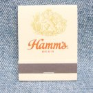 HAMM'S BEER Matchbook - Front Strike - Unused
