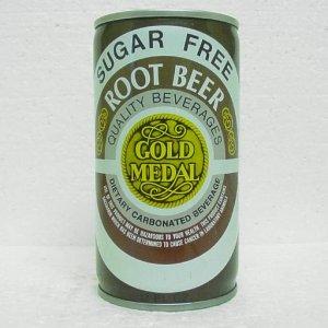 GOLD MEDAL SUGAR FREE ROOT BEER Can - 3 piece steel - tab top
