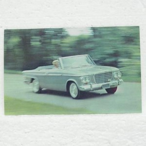STUDEBAKER LARK CONVERTIBLE Post Card - 1963 - unused