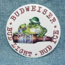 BUDWEISER BUD LIGHT BUD ICE Pinback - Frogs with bottle - St. Pat's - 3""