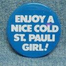"ST. PAULI GIRL Beer Pinback - 2-1/2"""
