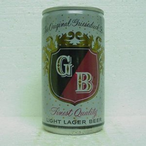 GB Beer Can - Griesedieck Bros. Brewing - St. Louis, Ft. Wayne, Omaha - 12 oz. - pull tab
