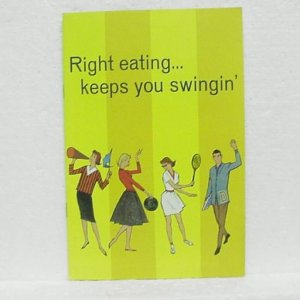 RIGHT EATING...KEEPS YOU SWINGIN' - Carnation Evaporated Milk - ©1960