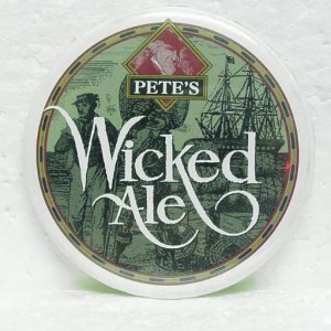 PETE'S WICKED ALE Pinback - 2-1/4""
