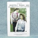 HEARTFELT WISHES VEST Pattern - Sz 8-18 - uncut - Mary's Patterns - ©1993