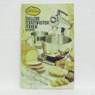 SUNBEAM DELUXE MIXMASTER MIXER RECIPES - ©1975