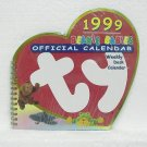 TY BEANIE BABIES OFFICIAL CALENDAR 1999 - Weekly Desk Calendar - Unused