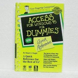 WINDOWS 95 FOR DUMMIES Book - ©1996 - Stuart J. Stuple