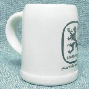 LOWENBRAU Special & Dark Special Beer very small mug / muglet -Ceramarte - ceramic
