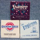 STARDUST, TROPICANA, COLORADO BELLE Casino matchbooks - Las Vegas & Laughlin, NV