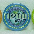 3 HYUNDAI 1200 WORLD CHALLENGE Pinbacks - Brevard