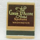The COEUR D'ALENE HOTEL Matchbook - Spokane, WA - Donkey Room - Front strike