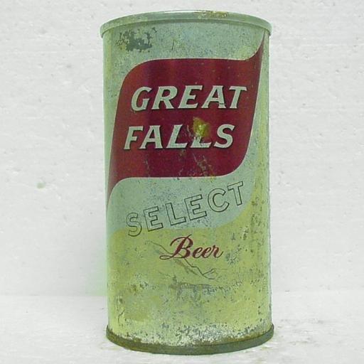 GREAT FALLS SELECT BEER Can - Great Falls Brwg. - Great Falls, MT - zip tab - 12 oz.