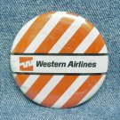 "WESTERN AIRLINES Pinback - round - 2-1/4"" in diameter"