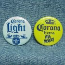 CORONA LIGHT & CORONA EXTRA Beer Pinbacks - Viva Mexico