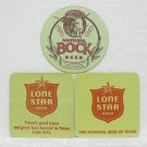3 LONE STAR BOCK & BEER Coasters / Mats - The National Beer Of Texas