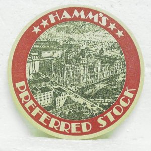 HAMM'S PREFERRED STOCK Beer Coaster Mat - Hamm - St. Paul