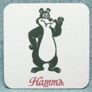 HAMM'S BEER Coaster Mat - Bear pictured - Square