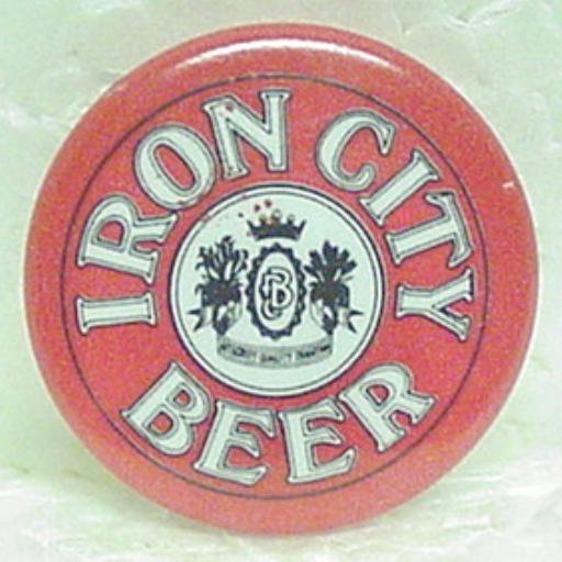 "IRON CITY BEER Pin Pinback - Pittsburgh, PA - Metal - 1"" round"