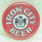 IRON CITY BEER Pin Pinback - Pittsburgh, PA - Metal - 1&quot; round