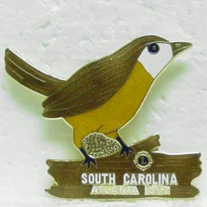 LIONS CLUB Enameled Pin - South Carolina - Atlanta 1982