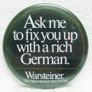 """WARSTEINER Beer Pin - German - 3"""" Round - Metal"""