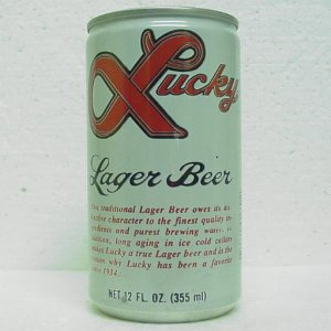 LUCKY LAGER BEER Can - General Brewing Co. - Vancouver, WA - WAKE UP AMERICA