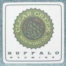 "CLEAR CREEK BREWING CO. Beer Coaster Mat - Buffalo, WY - 3-1/2"" x 3-1/2"""