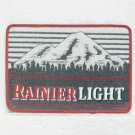 "RAINIER LIGHT Beer Embroidered Patch - Unused - Large 7"" x 5"""