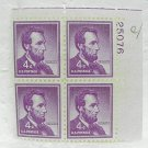 LINCOLN Plate Block - 4¢ Stamps