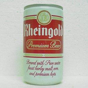 RHEINGOLD PREMIUM BEER Can - Rheingold Brewery - 2 cities - aluminum - pull tab