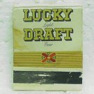 LUCKY DRAFT BEER Matchbook - Front strike - General Brewing Corp. 3 cities