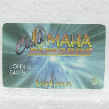 CLUB OMAHA Players Club Card - Casino Omaha - Blackbird Bend, IA - Omaha Nation