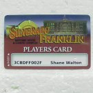 SILVERADO FRANKLIN PLAYERS CARD - Deadwood, SD - Players Slot Card