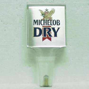 MICHELOB DRY Beer Tap Handle - Lucite - Anheuser Busch