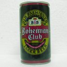 BOHEMIAN CLUB BEER Can - Jos. Huber Brewing Co. - Monroe, WI - Crimped steel - pull tab