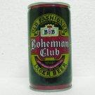 BOHEMIAN CLUB BEER Can - Jos. Huber Brewing Co. - Monroe, WI - Crimped steel - pull tab